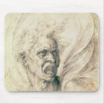 Study of a man shouting mouse pad