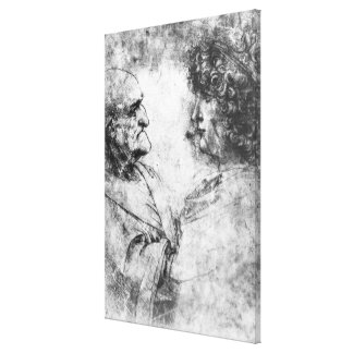 Study of a 'nutcracker' man and beautiful canvas print