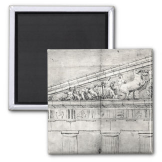 Study of a pediment from the Parthenon Fridge Magnets