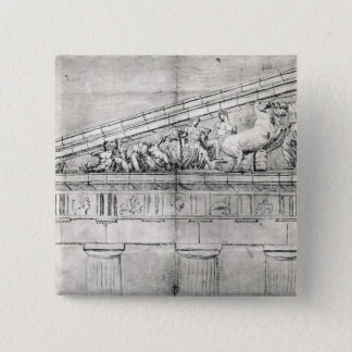 Study of a pediment from the Parthenon Pinback Button