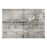 Study of a pediment from the Parthenon Print