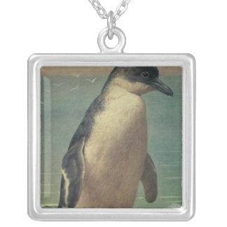 Study of a Penguin Square Pendant Necklace
