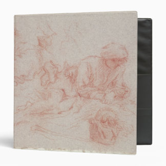 Study of a reclining man 3 ring binder