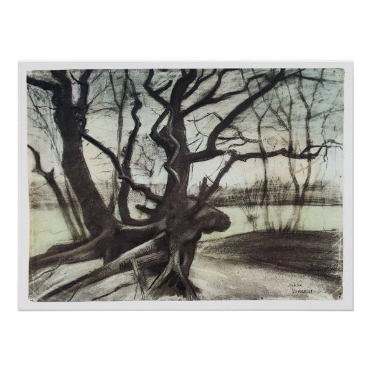 Study of a Tree by Vincent Van Gogh Poster