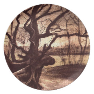 Study of a Tree Melamine Plate