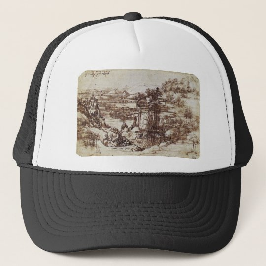 Study of a Tuscan landscape. Trucker Hat