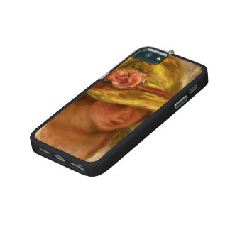 Study of a Woman in a Yellow Hat by Pierre Renoir iPhone 5 Covers