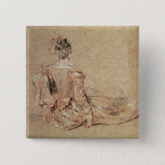 Study of a woman seen from the back, 1716-18 button