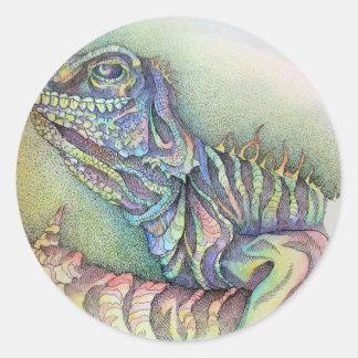 Study of An Iguana Classic Round Sticker