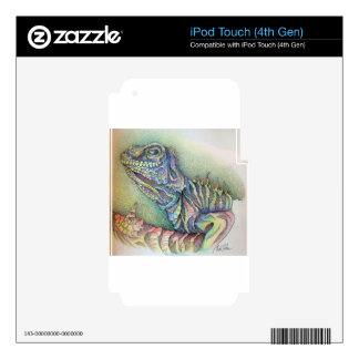 Study of An Iguana Skins For iPod Touch 4G