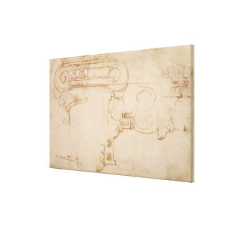 Study of an Ionic capital Gallery Wrap Canvas