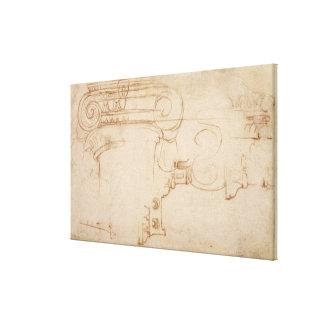 Study of an Ionic capital Canvas Print