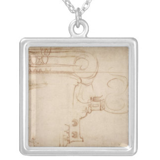 Study of an Ionic capital Silver Plated Necklace