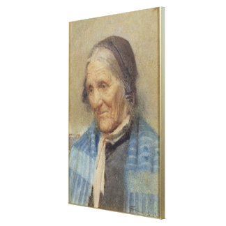 Study of an Old Woman, 1912 (w/c on paper) Canvas Print