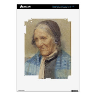 Study of an Old Woman, 1912 (w/c on paper) iPad 3 Decal