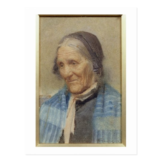 Study of an Old Woman, 1912 (w/c on paper) Postcard