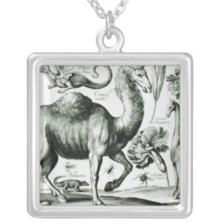 Study of Animals and Flowers, engraved Personalized Necklace