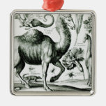 Study of Animals and Flowers, engraved Christmas Tree Ornament
