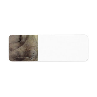 Study of Arms and Hands Custom Return Address Label