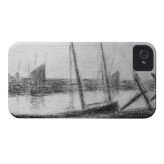 Study of boat and anchor by Georges Seurat iPhone 4 Case-Mate Case