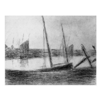 Study of boat and anchor by Georges Seurat Postcard