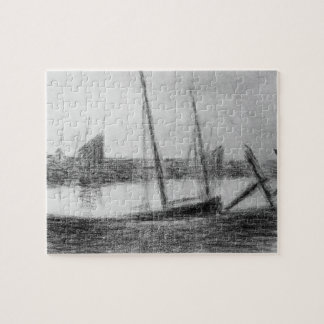 Study of boat and anchor by Georges Seurat Jigsaw Puzzle