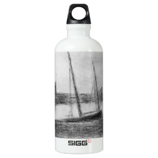 Study of boat and anchor by Georges Seurat SIGG Traveler 0.6L Water Bottle