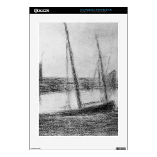 Study of boat and anchor by Georges Seurat Decals For PS3