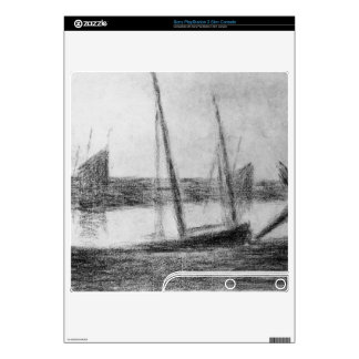 Study of boat and anchor by Georges Seurat PS3 Slim Console Skins