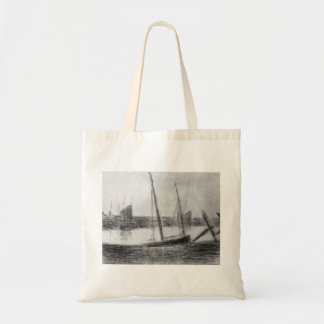 Study of boat and anchor by Georges Seurat Tote Bag