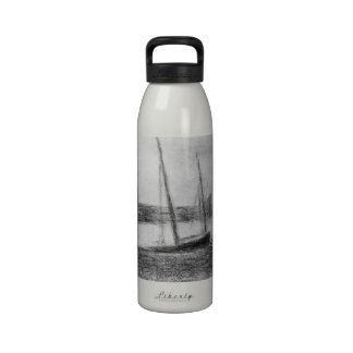 Study of boat and anchor by Georges Seurat Reusable Water Bottles