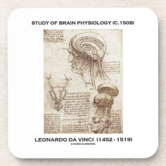 Study Of Brain Physiology (c. 1508) da Vinci Beverage Coaster