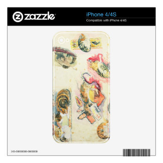 Study of Cats and a Head (w/c on paper) Skin For iPhone 4