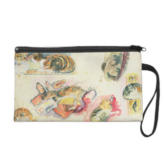 Study of Cats and a Head (w/c on paper) Wristlet