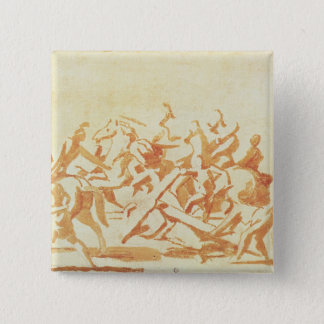 Study of Christ Carrying the Cross (chalk and wash Pinback Button