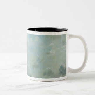 Study of Cumulus Clouds, 1822 (oil on paper laid d Two-Tone Coffee Mug