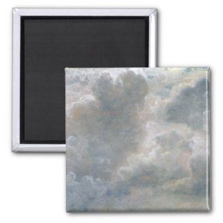 Study of Cumulus Clouds, 1822 (oil on paper laid o 2 Inch Square Magnet