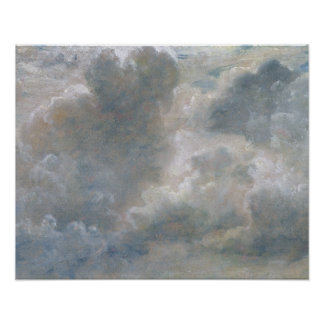 Study of Cumulus Clouds, 1822 (oil on paper laid o Poster