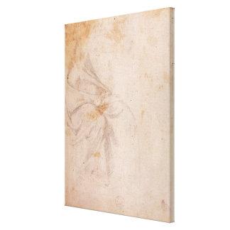 Study of Drapery  c.1516 Canvas Print