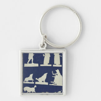 Study of Figures and Animals Keychain