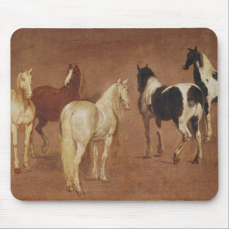 Study of Five Horses Mouse Pad