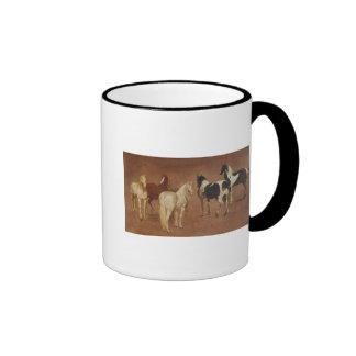 Study of Five Horses Ringer Mug