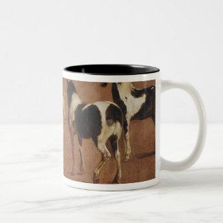 Study of Five Horses Two-Tone Coffee Mug