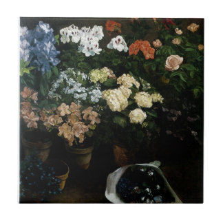 Study of Flowers by Frederic Bazille Tile