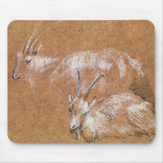 Study of Goats (drawing) Mouse Pad