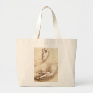 Study of Hands Large Tote Bag