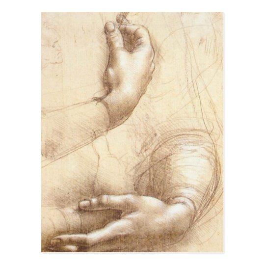 Study of Hands Postcard