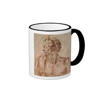 Study of Head and Shoulders Ringer Coffee Mug