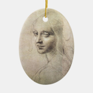 Study of Head of a Girl Christmas Tree Ornament