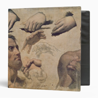 Study of Heads and Hands 3 Ring Binder